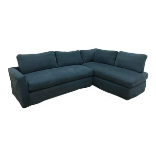 Shabby Chic Rachel Ashwell Ink Blue Sectional Sofa