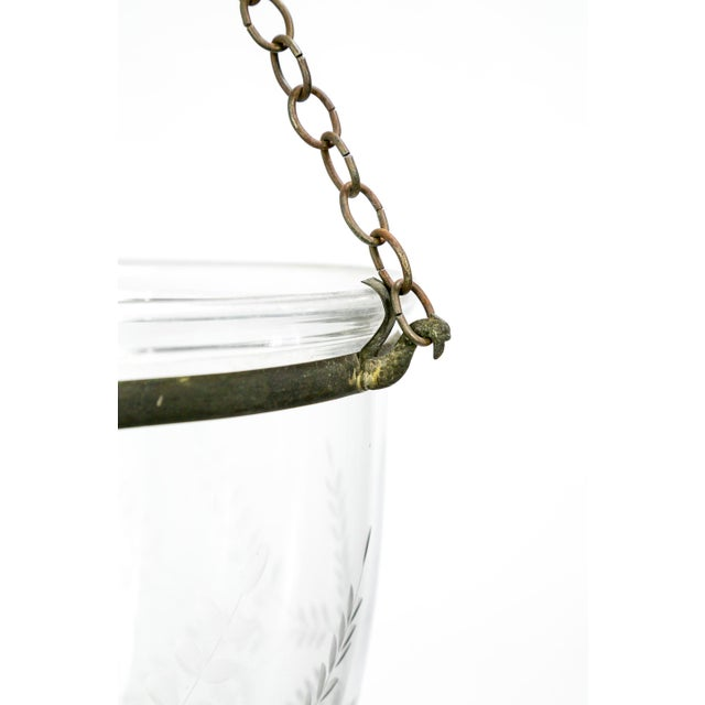 Late 19th Century 19th Century Georgian Style Bell Jar With Etched Grapes For Sale - Image 5 of 8