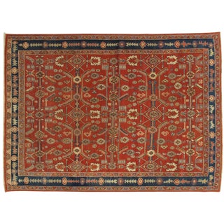 "Late 19th Century Antique Persian Serapi Handmade Oriental Rug-6'2""x8'6"" For Sale"