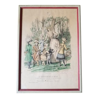 1840's French Fashion Print For Sale