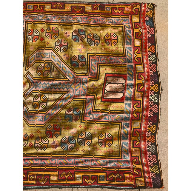 1900s TurkishVintag Colorful Tribal Wool Kilim Rug For Sale In Raleigh - Image 6 of 13