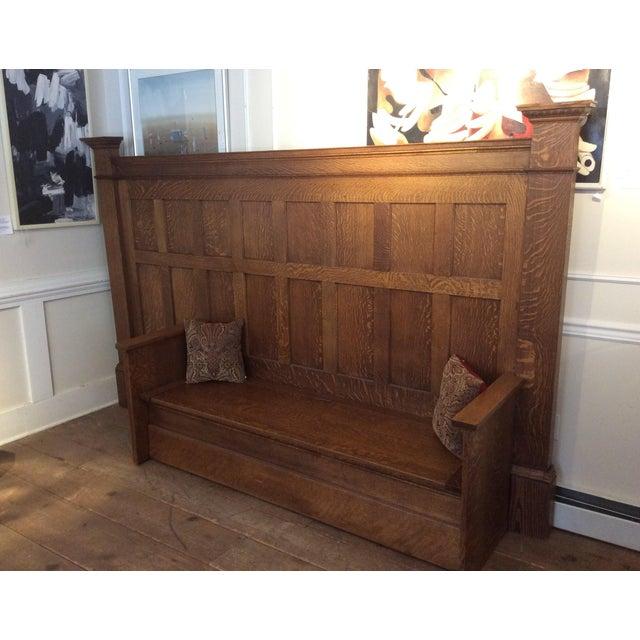Vintage Sawn Oak Bench - Image 4 of 11