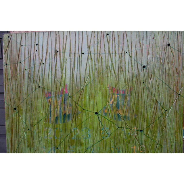 Abstract Abstract on Wood by Noted Los Angeles Artist Dawn Arrowsmith For Sale - Image 3 of 8