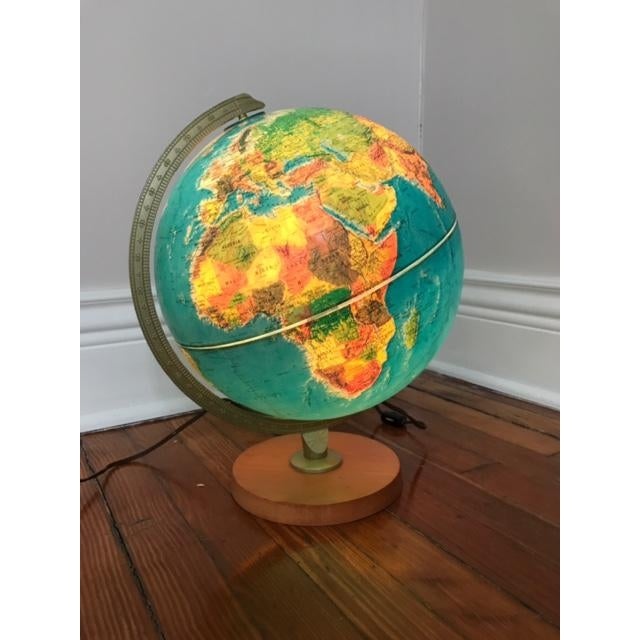 Vintage Replogle Light Up Globe with Relief - Image 2 of 5