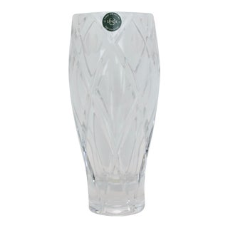 Vintage Lenox Savannah Cut Crystal Vase For Sale