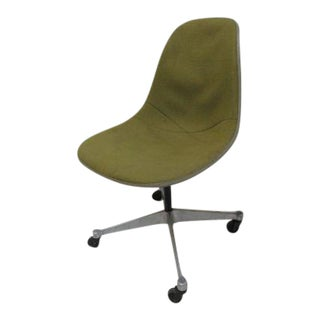 Vintage Herman Miller Green Fiberglass Egg Office Desk Chair