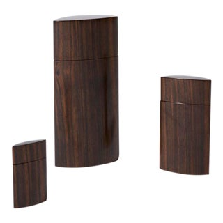 Jeffrey Seaton Wood Design Handmade Wood Canisters - Set of 3 For Sale