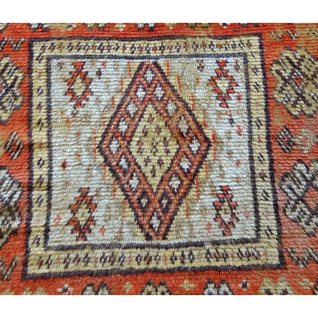 Textile 1900s Handmade Antique Moroccan Berber Rug 4' X 7.6' For Sale - Image 7 of 11