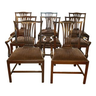Dining Chippendale Style Chairs - Set of 8 For Sale