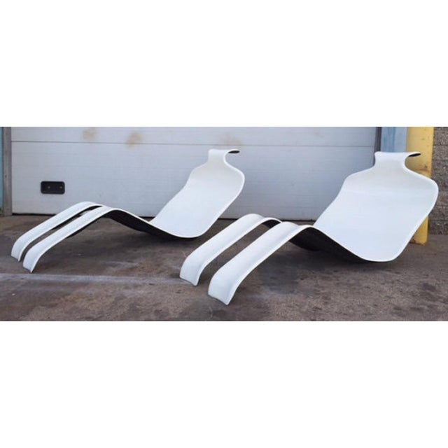 Olivier Mourgue Bouloum French Chaise Lounges- A Pair - Image 3 of 6