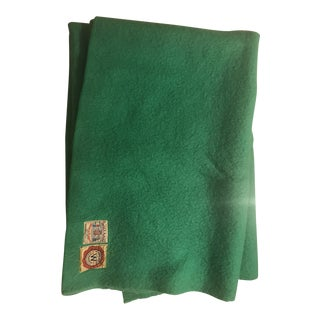 Vintage Green Holland Health Wool Blanket