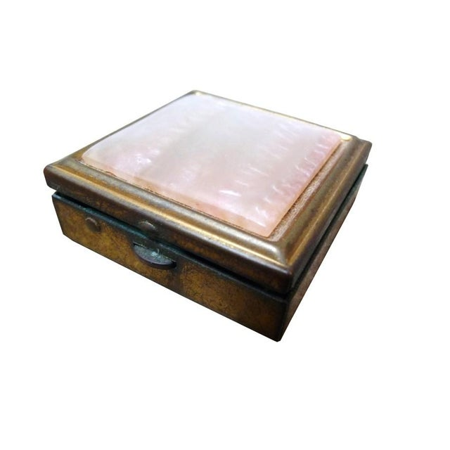 Vintage Brass & Mother of Pearl Pill Box - Image 1 of 4