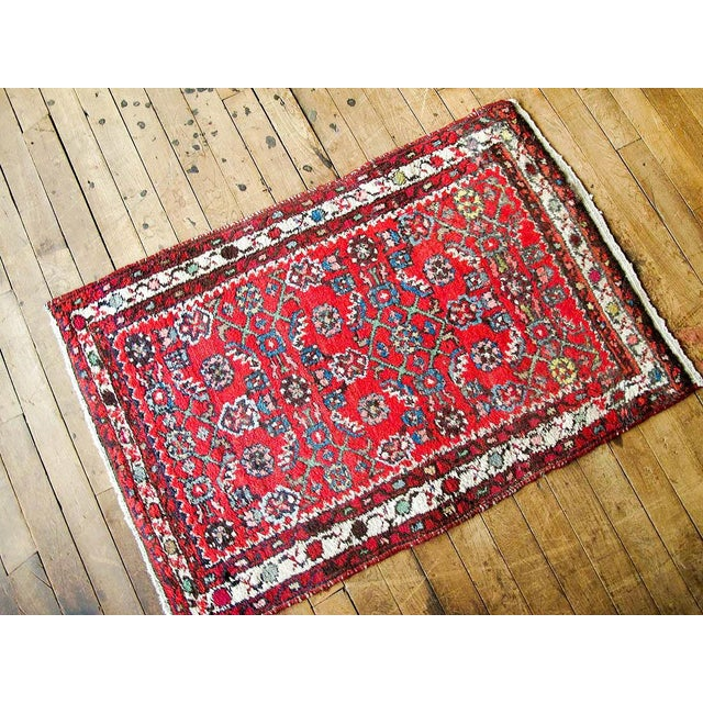 """Red Boho Chic Persian Rug - 1'11"""" X 3' - Image 7 of 7"""