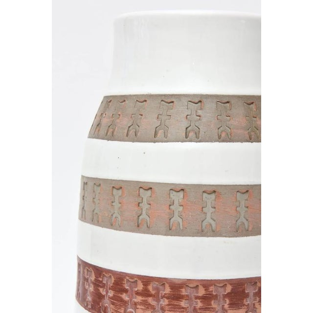Mid-Century Modern Italian Rare Aldo Londi Bitossii Ceramic Vase or Sculpture For Sale - Image 3 of 9