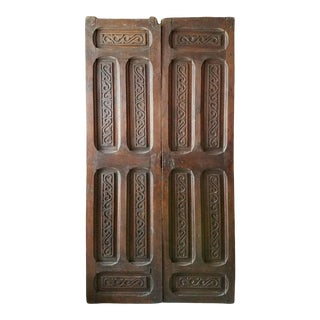 1900s Moroccan Wooden Door For Sale