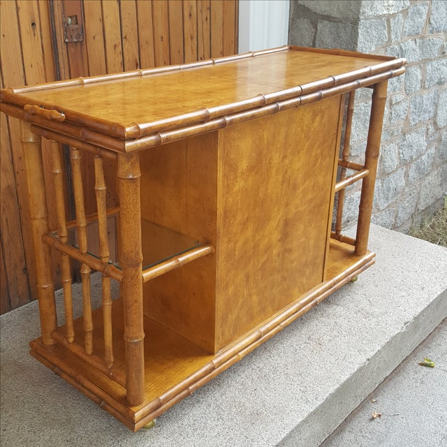 American of Martinsville Faux Bamboo Server For Sale - Image 5 of 10