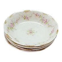 Vintage Limoges Floral Dessert Bowls - Set of 4