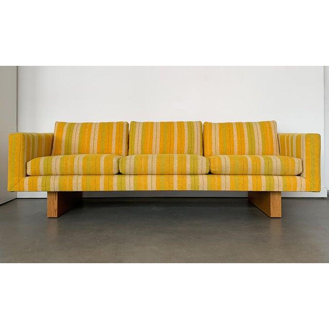"Designer: Harvey Probber USA - Circa 1960s Dimensions: 29"" H x 84"" W x 32"" D Seat 17.5"" H Condition: Excellent vintage..."