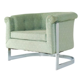 Vintage Milo Baughman Scrolled Arm Lounge Chair For Sale