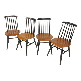 Set of 4 Dining Chairs by Ilmari Tapiovaara For Sale