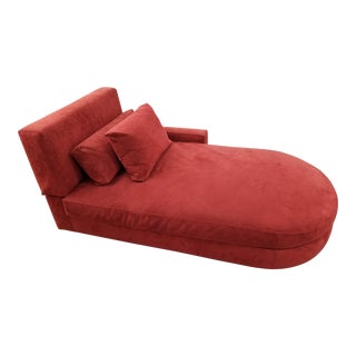 Red Chaise Lounge For Sale