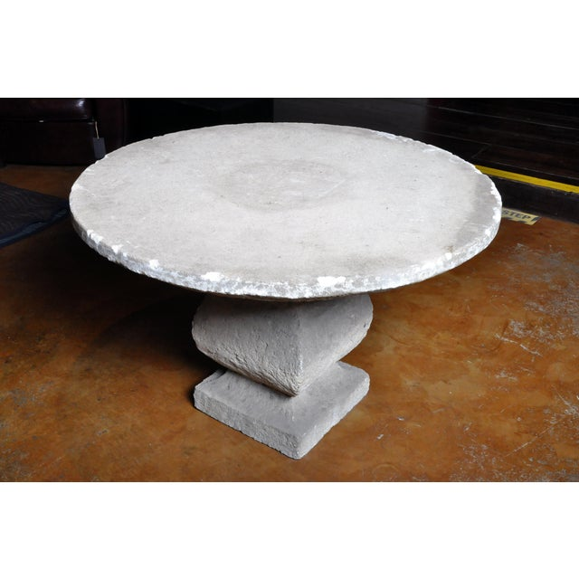 19th Century Limestone Garden Table For Sale - Image 11 of 13
