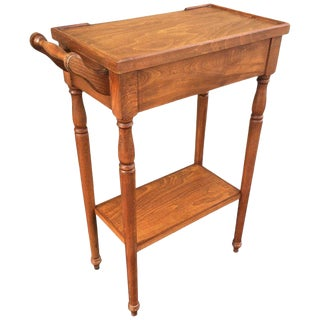 20th Century Rare High Top Auxiliar Spanish Side Table With Drawer For Sale