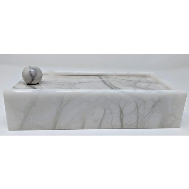 Hermes Inspired Alabaster Box For Sale - Image 9 of 12