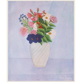 "1940s Henri Rousseau ""Flowers"", First Edition Swiss Lithograph For Sale"