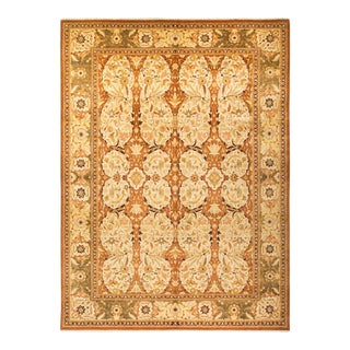 """Mogul, One-Of-A-Kind Hand-Knotted Area Rug - Brown, 10' 3"""" X 13' 10"""" For Sale"""