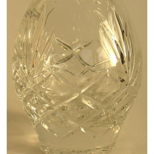 Vintage Traditional Lead Crystal Decanter For Sale - Image 4 of 5