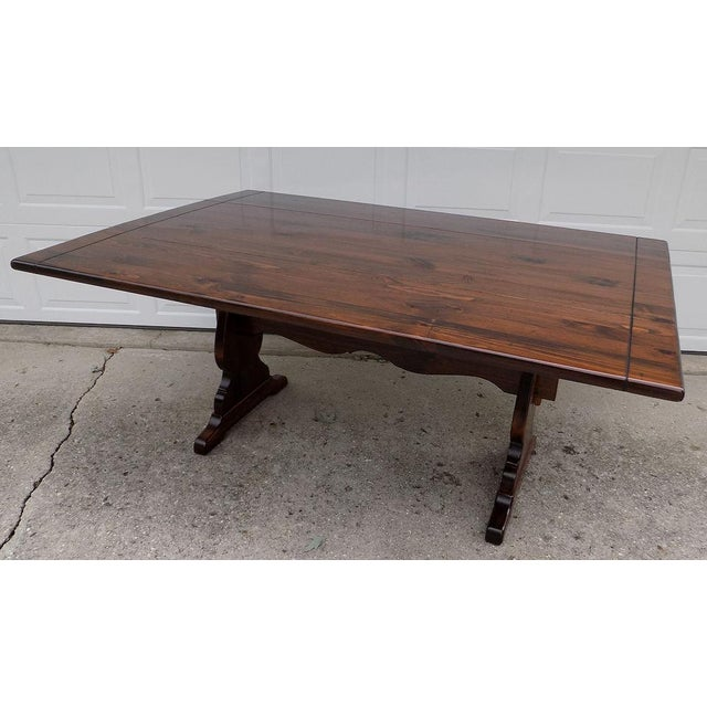 1970s Americana Ethan Allen Old Tavern Drop Leaf Pine Dining Table Chairish