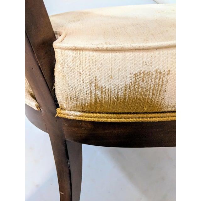 1970s Vintage Hollywood Regency Lattice Barrel Back Lounge Chair For Sale - Image 10 of 13