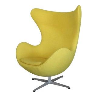 Restored Arne Jacobsen Yellow Egg Chair