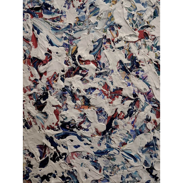 Ellie Riley Contemporary Abstract in White Acrylic Painting For Sale In Los Angeles - Image 6 of 10