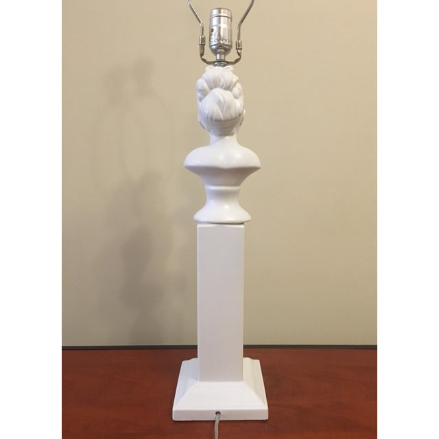 Barbara Cosgrove Bust Column Table Lamp For Sale - Image 4 of 5