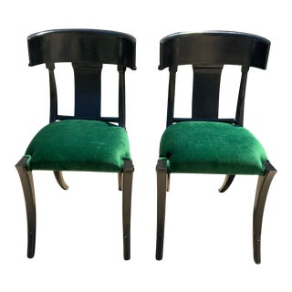 Modern Medellin Mid-Century Style Klismos Chairs - a Pair For Sale