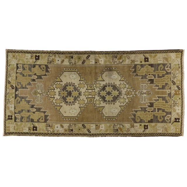 Vintage Turkish Oushak Runner Rug - 4′ × 8′1″ - Image 1 of 6