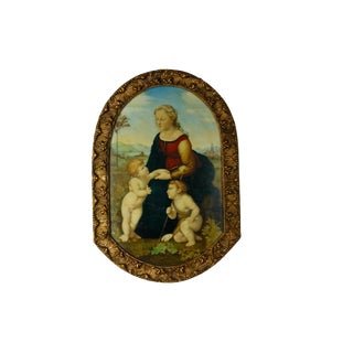 French 19th C Raphael on Porcelain by Fanny Caille For Sale