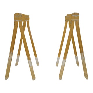 1970's Vintage Lucite Sawhorse Table Legs - A Pair
