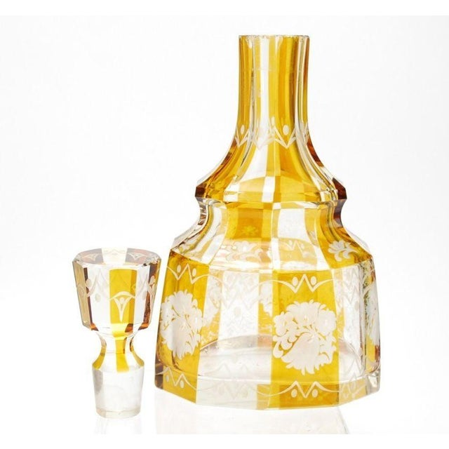 Art Deco Bohemian Decanter For Sale - Image 4 of 8
