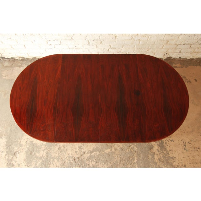 Ib Kofod Larsen Rosewood Extension Dining Table For Sale In South Bend - Image 6 of 11