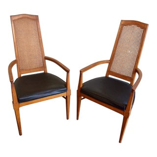 Vintage Statesville Chair Company Walnut Occasional Dining Chairs - a Pair For Sale