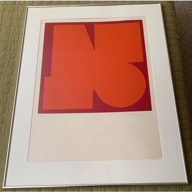 1960s Vintage Jo Delahaut Abstract Geometric Serigraph Silkscreen Print For Sale - Image 9 of 9