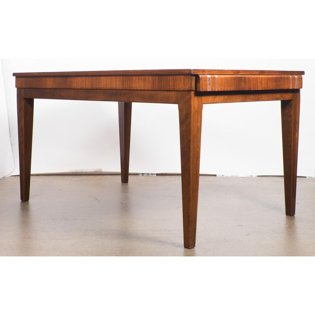 French Art Deco Burled Elm Table - Image 4 of 9