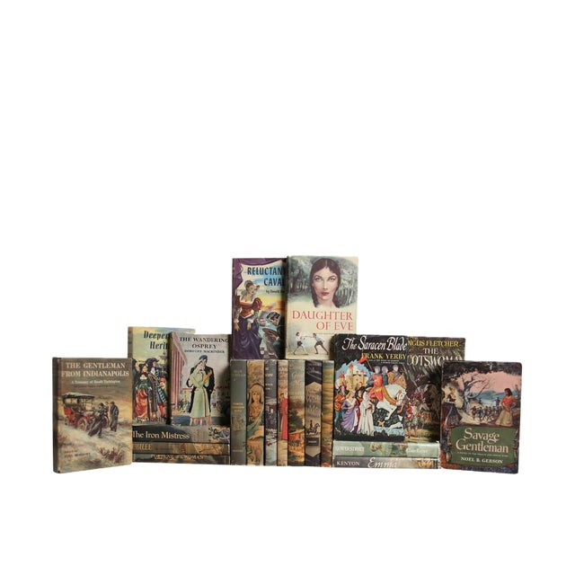 Midcentury Novels in Dustjacket - Set of Twenty Decorative Books For Sale