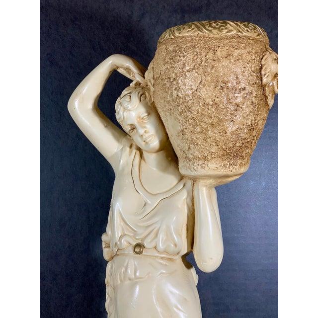 Mid-Century Vintage Tall Venus W/Amphora Cachepot Statue For Sale - Image 9 of 11