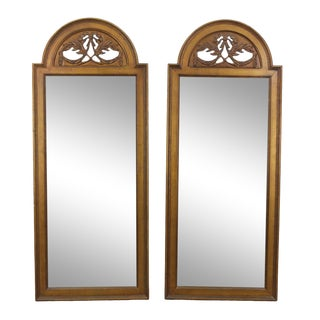 Vintage Gilded Mirrors - a Pair For Sale