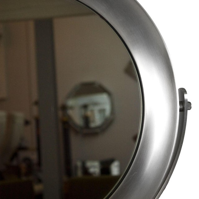 1960s Pivoting Vanity-Table Mirror by Sergio Mazza, White Marble, Italy For Sale - Image 9 of 10