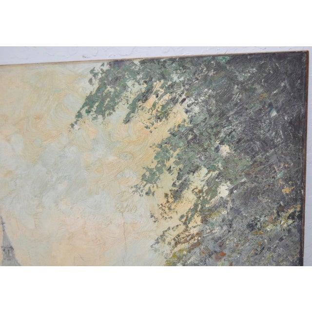 "Marcel Brisson Original ""Paris"" Oil Painting c.1960 For Sale - Image 7 of 8"